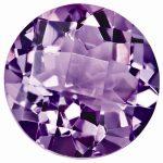Loose Amethyst Gemstone 5mm Round Checkerboard AA Quality