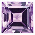 Loose Amethyst Gemstone 3mm Square Step Cut AA Quality