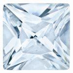 Loose Aquamarine Gemstone 4mm Princess AA Quality