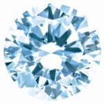 0.07 Ct Loose Blue 2.6mm Round Diamond Gemstone