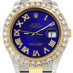 Rolex Datejust II Watch / 41 MM / 18K Yellow Gold & Stainless Steel / Custom Blue Roman Dial / Oyster Band