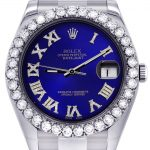 Rolex Datejust II Watch / 41 MM / Custom Blue Roman Dial / Oyster Band