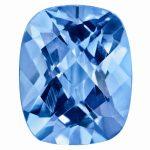 Loose Blue Topaz Gemstone 12x10mm Cushion Checkerboard AA Quality