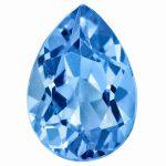 Loose Blue Topaz Gemstone 9x6mm Pear AA Quality