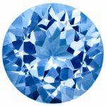 Loose Blue Topaz Gemstone 2.75mm Round AA Quality