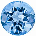 Loose Blue Topaz Gemstone 9mm Round Checkerboard AA Quality