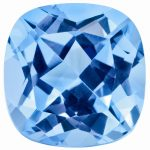 Loose Blue Topaz Gemstone 5mm Sq Cush AA Quality