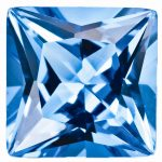 Loose Blue Topaz Gemstone 3mm Princess AA Quality