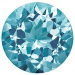 Loose Blue Zircon Gemstone 2.25mm Round AA Quality