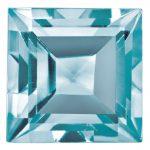 Loose Blue Zircon Gemstone 3mm Square Step Cut AA Quality