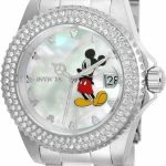 Invicta Disney Limited Edition Mickey Mouse Womens Quartz 40mm Stainless Steel Case Mother of Pearl Dial – Model 26238