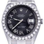 Rolex Datejust II Watch / 41 MM / Custom Grey Roman Dial / Oyster Band