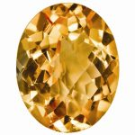 Loose Citrine Gemstone 11x9mm Oval Checkerboard AA Quality