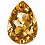 Loose Citrine Gemstone 5x3mm Pear AA Quality