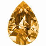 Loose Citrine Gemstone 9x6mm Pear Checkerboard AA Quality