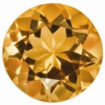 Loose Citrine Gemstone 5mm Round AA Quality