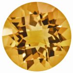 Loose Citrine Gemstone 9mm Round Checkerboard AA Quality