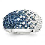 Sterling Silver Swarovski Elements State College Spirit Ring