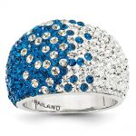 Sterling Silver Swarovski Elements Indianapolis Spirit Domed Ring