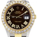 Rolex Datejust II Watch / 41 MM / 18K Yellow Gold & Stainless Steel / Custom Chocolate Roman Dial / Oyster Band