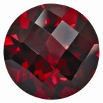 Loose Garnet Gemstone 6mm Round Checkerboard AA Quality