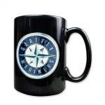 Seattle Mariners 15oz Black Ceramic Mug