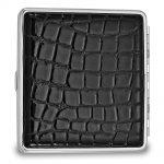 Black Faux Croco Cigarette/Card Case