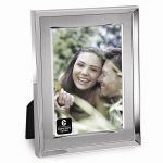 Silver-plated Brushed Metal Photo Frame