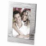 Silver-plated Metal Textured Photo Frame