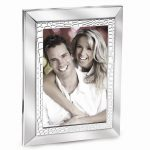 Silver-plated Metal Croco Border Photo Frame – Engravable Personalized Gift Item