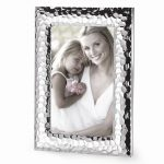 Silver-plated Hammered Metal Photo Frame