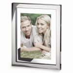 Floating Glass Silver-plated Metal Photo Frame – Engravable Gift Item