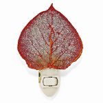 Iridescent Copper Dipped Aspen Leaf Nightlight