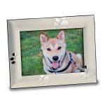 Aluminum Puppy Paw Prints 5×7 Photo Frame