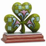 Jim Shore Shamrock Mini Figurine