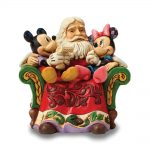 Disney Traditions Jim Shore Minnie And Mickey With Santa Figurine