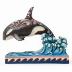 Jim Shore Double Orca Whale Figurine