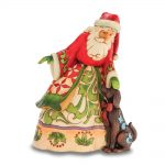 Jim Shore Santa With Puppy Figurine