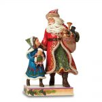 Jim Shore Victorian Santa With Girl Figurine