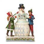Jim Shore Victorian Children With Snowman Figurine