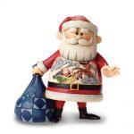 Rudolph Jim Shore Santa With Rudolph & Sleigh Scene Figurine