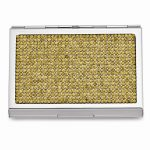 Silver-tone Golden Crystal Business Card Case