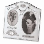 Satin Silver-plated 25th Anniversary Photo Frame