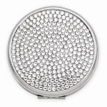 Clear Swarovski Elements Compact Mirror – Engravable Personalized Gift Item