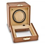Brown Faux Crocodile Leather 1-Turntable Watch Winder