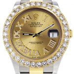 Rolex Datejust II Watch / 41 MM / 18K Yellow Gold & Stainless Steel / Custom Gold Roman Dial / Oyster Band