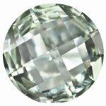 Loose Green Quartz Gemstone 5mm Round Checkerboard AA Quality