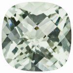 Loose Green Quartz Gemstone 6mm Cushion Checkerboard AA Quality