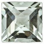 Loose Green Quartz Gemstone 5mm Square Checkerboard AA Quality
