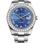 Rolex Datejust Ii Blue Dial – Roman Numerals With 5 Carats Of Diamonds